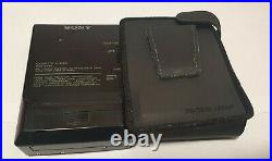 Vintage Sony Walkman Wm-ex49 Cassette Player Mega Bass With Original Case Rare